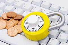ασφαλείς αγορές Διαδικτύου Στοκ Φωτογραφία