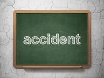 Ασφαλιστική έννοια: Ατύχημα στο υπόβαθρο πινάκων κιμωλίας Στοκ εικόνα με δικαίωμα ελεύθερης χρήσης