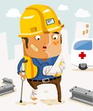 ασφαλιστική εργασία διανυσματική απεικόνιση