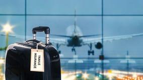 Ασφαλιστική ετικέτα ταξιδιού Στοκ φωτογραφίες με δικαίωμα ελεύθερης χρήσης