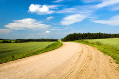 ασφαλτωμένος όχι δρόμος Στοκ εικόνα με δικαίωμα ελεύθερης χρήσης