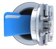Ασφαλές και μπλε αρχείο διανυσματική απεικόνιση