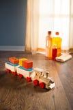 Ασφαλής καθαρισμός πατωμάτων σκληρού ξύλου Στοκ Εικόνες