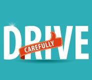 Ασφαλής οδηγώντας έννοια Στοκ Εικόνες