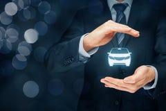 ασφαλιστικό διανυσματικό λευκό απεικόνισης αυτοκινήτων ανασκόπησης Στοκ φωτογραφία με δικαίωμα ελεύθερης χρήσης