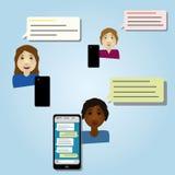 Ασύρματη συνομιλία smartphone Στοκ Εικόνες