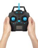 Ασύρματος τηλεχειρισμός για τα παιχνίδια που κρατά στο χέρι στοκ φωτογραφία με δικαίωμα ελεύθερης χρήσης