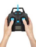 Ασύρματος τηλεχειρισμός για τα παιχνίδια που κρατά στο χέρι στοκ φωτογραφία