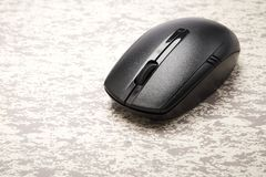 ασύρματο μαύρο ποντίκι υπολογιστών Στοκ Εικόνα