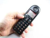 Ασύρματο τηλέφωνο σε διαθεσιμότητα Στοκ Εικόνα