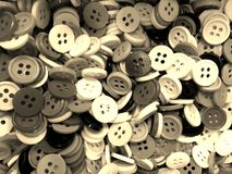 Ατίθασο μικρό ράβοντας υπόβαθρο κουμπιών τόνου σεπιών στοκ φωτογραφίες