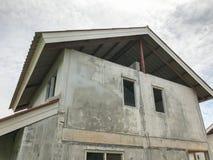 Ατελές σπίτι για την πώληση στην Ταϊλάνδη Στοκ φωτογραφία με δικαίωμα ελεύθερης χρήσης