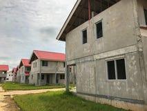 Ατελές σπίτι για την πώληση στην Ταϊλάνδη, Στοκ Εικόνα