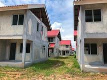Ατελές σπίτι για την πώληση στην Ταϊλάνδη Στοκ εικόνες με δικαίωμα ελεύθερης χρήσης