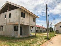 Ατελές σπίτι για την πώληση στην Ταϊλάνδη Στοκ Εικόνες
