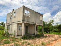 Ατελές σπίτι για την πώληση στην Ταϊλάνδη Στοκ Φωτογραφίες