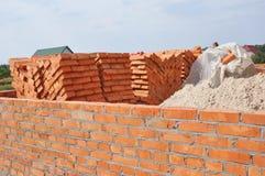 Ατελές σπίτι κάτω από την κατασκευή Κατασκευή σπιτιών οικοδόμησης Στοκ φωτογραφίες με δικαίωμα ελεύθερης χρήσης