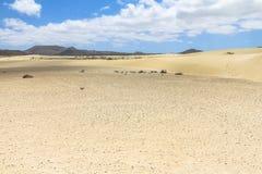 Ατελείωτοι και ευρείς αμμόλοφοι άμμου, Dunas de Corralejo, Fuerteventura Στοκ εικόνες με δικαίωμα ελεύθερης χρήσης