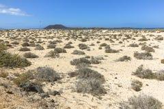 Ατελείωτοι και ευρείς αμμόλοφοι άμμου, Dunas de Corralejo, Fuerteventura Στοκ φωτογραφία με δικαίωμα ελεύθερης χρήσης