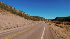 Ατελείωτος δρόμος μέσω της ερήμου της Γιούτα απόθεμα βίντεο