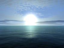 Ατελείωτος ωκεανός Διανυσματική απεικόνιση