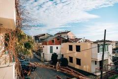 Ατελές διώροφο σπίτι σε Budva, Μαυροβούνιο μπλε ουρανός Στοκ φωτογραφία με δικαίωμα ελεύθερης χρήσης