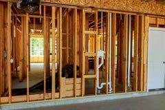 ατελές ξύλινο κτήριο ή σπίτι πλαισίων Στοκ Εικόνες