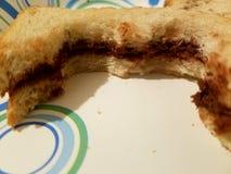 Ατελές Nutella Στοκ φωτογραφία με δικαίωμα ελεύθερης χρήσης