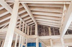 ατελής ξύλινος σπιτιών Στοκ Εικόνες