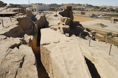 Ατελής οβελίσκος - Aswan - Αίγυπτος στοκ εικόνες με δικαίωμα ελεύθερης χρήσης