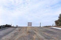 Ατελής δρόμος κάτω από την κατασκευή Στοκ εικόνα με δικαίωμα ελεύθερης χρήσης