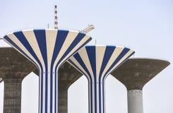 Ατελείς πύργοι νερού στο Κουβέιτ Στοκ Φωτογραφίες
