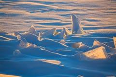 Ατελείωτα ανταρκτικά snowfields Στοκ εικόνα με δικαίωμα ελεύθερης χρήσης