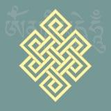 Ατελείωτος κόμβος, ένα από οκτώ ευνοϊκά βουδιστικά θρησκευτικά σύμβολα, Στοκ εικόνες με δικαίωμα ελεύθερης χρήσης