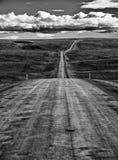 Ατελείωτος δρόμος στην Ισλανδία Στοκ Εικόνες