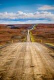 Ατελείωτος δρόμος στην Ισλανδία Στοκ φωτογραφία με δικαίωμα ελεύθερης χρήσης