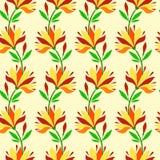 Ατελείωτο floral πρότυπο Στοκ Εικόνες