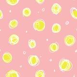 Ατημέλητοι κύκλοι, τυχαίο άνευ ραφής σχέδιο σημείων doodle Στοκ Φωτογραφία