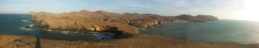 Ατλαντικός Ωκεανός και η έρημος στοκ εικόνα