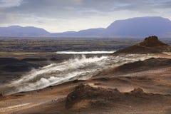 Ατμίδες Hverir Namafjall θείου στην Ισλανδία Στοκ εικόνα με δικαίωμα ελεύθερης χρήσης