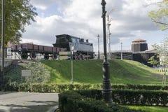Ατμομηχανή ατμού στο μουσείο στοκ εικόνα