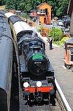 Ατμομηχανή ατμού στο σιδηροδρομικό σταθμό Arley Στοκ Φωτογραφία
