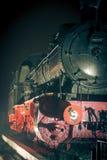Ατμομηχανή ατμού τη νύχτα στοκ εικόνες με δικαίωμα ελεύθερης χρήσης