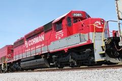 Ατμομηχανή 7081 σιδηροδρόμου RJ Corman Στοκ Εικόνες