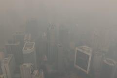 Ατμοσφαιρική ρύπανση (ελαφριά ομίχλη) στην Κουάλα Lumur, Μαλαισία Στοκ Εικόνες