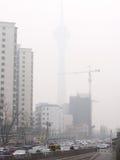 Ατμοσφαιρική ρύπανση στο Πεκίνο Στοκ εικόνα με δικαίωμα ελεύθερης χρήσης
