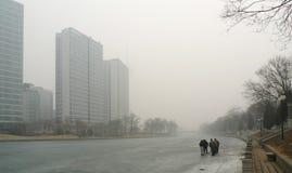 Ατμοσφαιρική ρύπανση στο Πεκίνο Στοκ Εικόνα