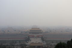Ατμοσφαιρική ρύπανση του Πεκίνου στοκ φωτογραφία με δικαίωμα ελεύθερης χρήσης