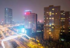 Ατμοσφαιρική ρύπανση του Πεκίνου Στοκ Φωτογραφίες