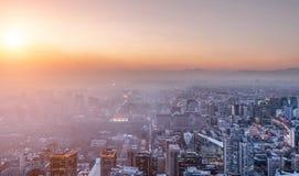 Ατμοσφαιρική ρύπανση του Πεκίνου στοκ εικόνα με δικαίωμα ελεύθερης χρήσης